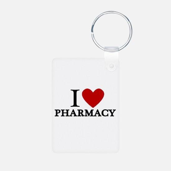 I Love Pharmacy Keychains