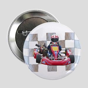 "Kart on Checkered Flag 2.25"" Button"
