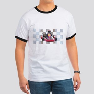 Kart on Checkered Flag T-Shirt
