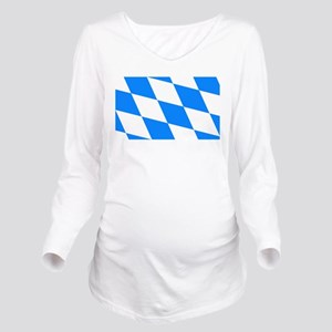 Bavarian flag Long Sleeve Maternity T-Shirt
