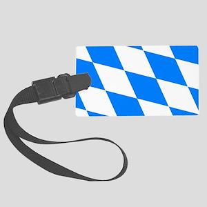 Bavarian flag Large Luggage Tag