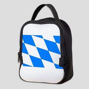 Bavarian flag Neoprene Lunch Bag