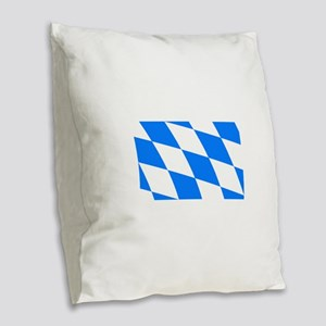 Bavarian flag Burlap Throw Pillow