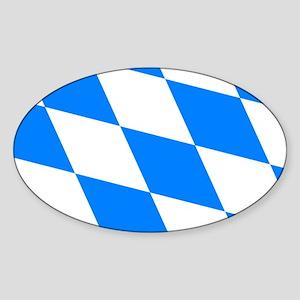 Bavarian flag Sticker (Oval)