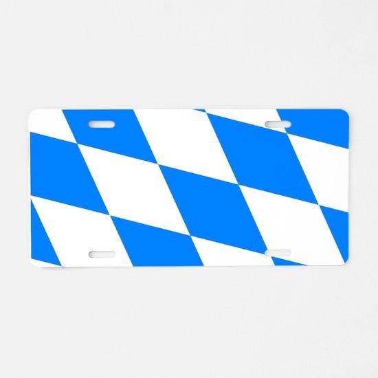Bavarian flag Aluminum License Plate