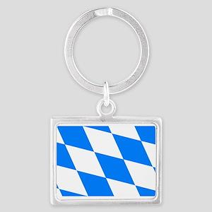 Bavarian flag Landscape Keychain