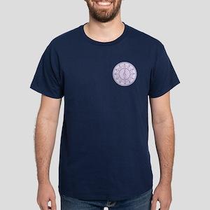 Purple Circle of Fifths Dark T-Shirt