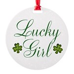 Lucky Girl Shamrocks Ornament