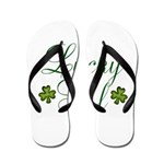 Lucky Girl Shamrocks Flip Flops