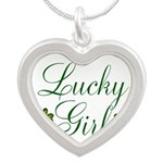 Lucky Girl Shamrocks Necklaces