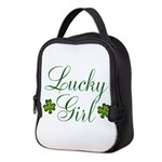 Lucky Girl Shamrocks Neoprene Lunch Bag