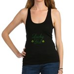 Lucky Girl Shamrocks Racerback Tank Top