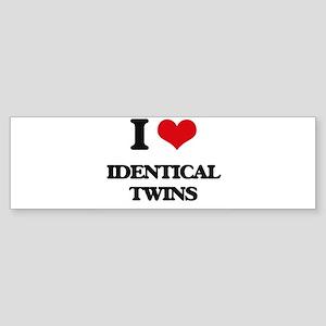 identical twins Bumper Sticker