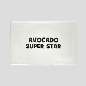 avocado super star Rectangle Magnet