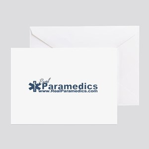 Paramedic Baseball Logo Greeting Cards (Package of