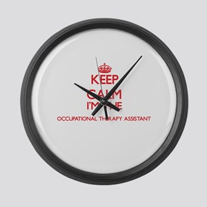 Keep calm I'm the Occupational Th Large Wall Clock