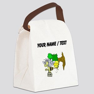 Custom Bee Going To Work Canvas Lunch Bag