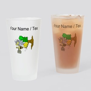 Custom Bee Going To Work Drinking Glass