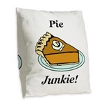 Pie Junkie Burlap Throw Pillow
