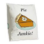Pie Junkie Burlap Throw Pillow
