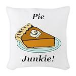 Pie Junkie Woven Throw Pillow