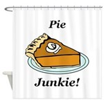 Pie Junkie Shower Curtain