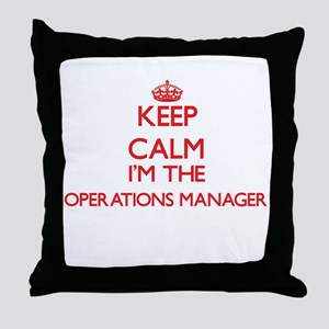 Keep calm I'm the Operations Manager Throw Pillow