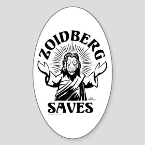 Zoidberg Saves Sticker (Oval)