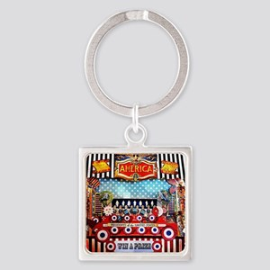 American Carnival Games Square Keychain