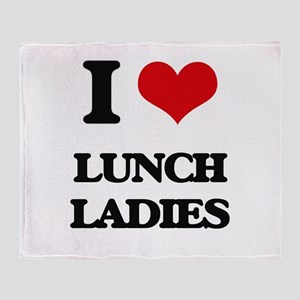 lunch ladies Throw Blanket