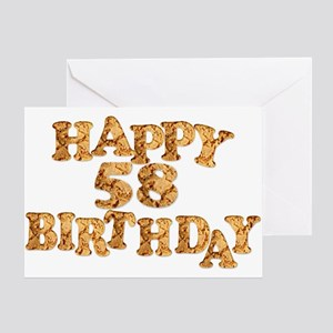 58th birthday card for a cookie lover Greeting Car