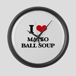 matzo ball soup Large Wall Clock