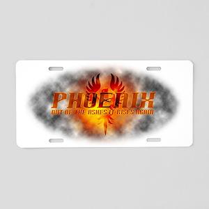 Phoenix Rising Aluminum License Plate
