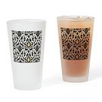 Damsel Cat by Traci K Drinking Glass