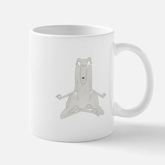 Funny, Dog Yoga / Doga Lotus/Eas Mug