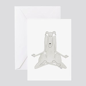 Funny, Dog Yoga / Doga Lotus/Easy Po Greeting Card