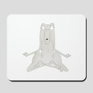 Funny, Dog Yoga / Doga Lotus/Easy Pose Mousepad