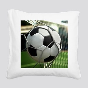 Soccer Goal Square Canvas Pillow