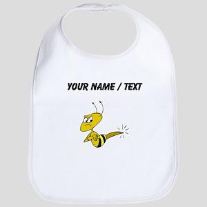 Custom Angry Bee Bib