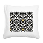 Damsel Cat by Traci K Square Canvas Pillow