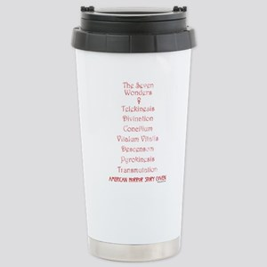 The Seven Wonders Stainless Steel Travel Mug