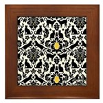 Damsel Cat by Traci K Framed Tile