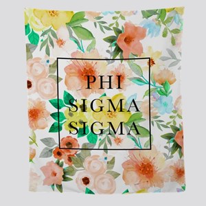 Phi Sigma Floral Wall Tapestry