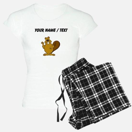 Custom Beaver Waving Pajamas