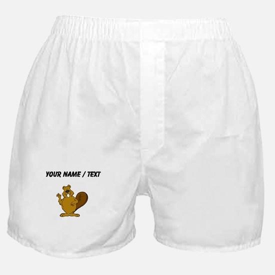 Custom Beaver Waving Boxer Shorts