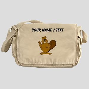 Custom Beaver Waving Messenger Bag