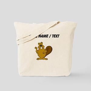 Custom Beaver Waving Tote Bag