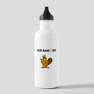 Custom Beaver Waving Water Bottle