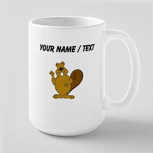 Custom Beaver Waving Mugs