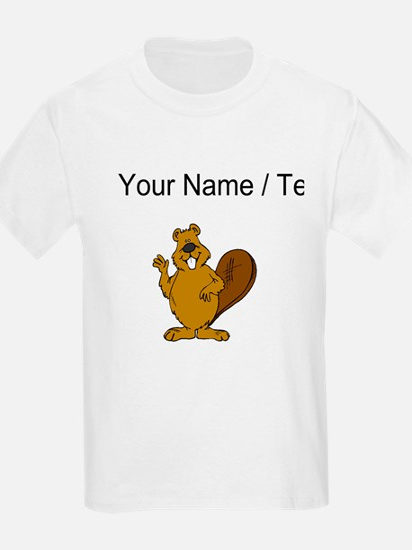 Custom Beaver Waving T-Shirt